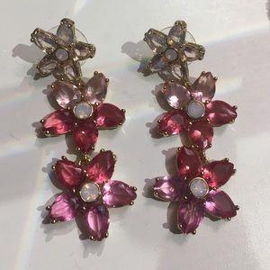 Kate Spade ♠️ chandelier earrings in pink ombré